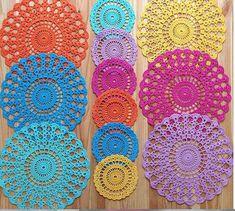 Sousplat em crochê colorido