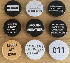 Stranger Things Inspired Pin Badges