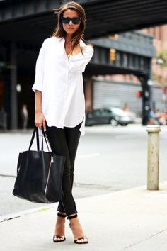 How To Master A Casual Chic Black And White Look (via Bloglovin.com )