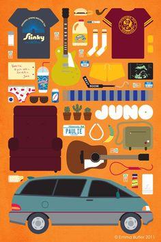 Juno  Una película que nadie puede dejar de ver. Un soundtrack increible.