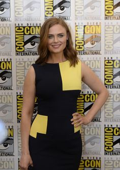 BONES Cast member Emily Deschanel behind the scenes on Friday, July 25 at the FOX FANFARE AT SAN DIEGO COMIC-CON © 2014.