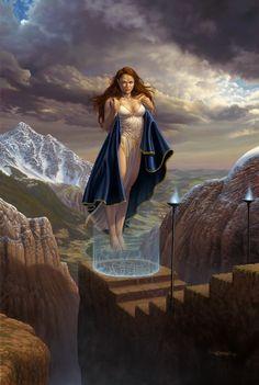 Prints and books by fantasy artist Larry Elmore High Fantasy, Fantasy Women, Medieval Fantasy, Dark Fantasy Art, Fantasy Girl, Fantasy Artwork, Art Visionnaire, Fantasy Illustration, Pulp Art