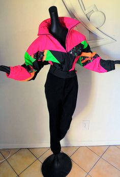 Vintge 1980s 80s Ski Suit Outfit SPACE MAN by elliemayhems on Etsy, $139.00