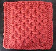 """Ravelry: Mock Smock Dishcloth Afghan 8"""" or 9"""" block knit pattern by Margaret MacInnis"""