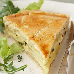Pikante Käse-Apfel-Tarte