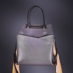 Philo EMPIRE TOTE in grey Fall Collections, Leather Bag, Empire, Grey, Instagram Posts, Bags, Handbags, Gray, Dime Bags