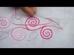 Hand Embroidery, Border Line Design Tutorial, Back stitch Back Stitch Embroidery, Simple Hand Embroidery Patterns, Border Embroidery Designs, Hand Embroidery Videos, Hand Embroidery Flowers, Hand Embroidery Tutorial, Hand Work Embroidery, Hand Embroidery Stitches, Embroidery Techniques