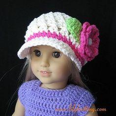 PATTERN – Crocheted beautiful Newsgirl Beanie for American Girl Doll « Lilyknitting – Patterns and Crochet