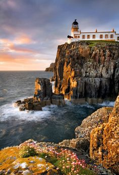 Neist Point Lighthouse - Isle of Skye  The most Westerly point on the Isle of Skye, giving excellent views over Moonen Bay to Waterstein Head and out over the Minch to the Western Isles.