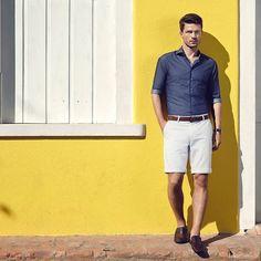 #poramaisb - Verão para eles: Bermudas, malhas, calças e camisaria chique coleção Dudalina. Homens e lifestyle