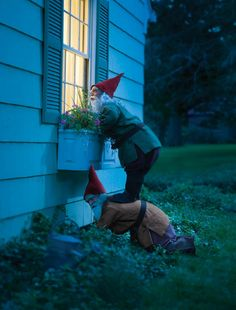 OMGEEE I would LOVE to do this and scare the crap out of my daughter and hubby LMAO! I am sure the paybacks would haunt me forever, but if I was able to also capture it on video yea definitely worth it.  garden gnomes