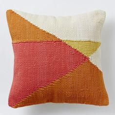 Chindi Colorblock Pillow Cover - Apricot