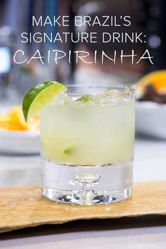 Muddle, shake and sip! Make Natalie's fave cocktail, the caipirinha - Seafood Recipes Caipirinha Recipe, Caipirinha Cocktail, Cocktail Drinks, Cocktail Recipes, Mojito, Cocktail Ideas, Cocktails For Parties, Party Drinks, Summer Drinks