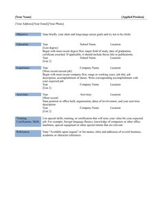 biodata for job interview