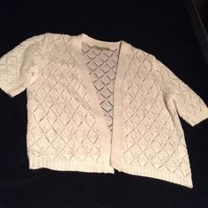 """White summer cardigan Cute lightweight summer cardigan in white, will fit up to 40"""" bust, length is 21"""" Jones New York Sweaters Cardigans"""