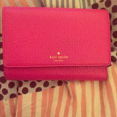 Hot pink small wallet  Kate Spade Hot pink Kate Spade medium sized wallet kate spade Bags Wallets