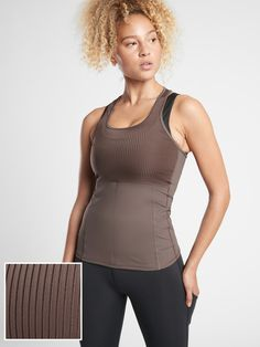 Vitality Rib Tank | Athleta Basic Tank Top, Athletic Tank Tops, Tights, Scoop Neck, Shopping, Fabric, Workouts, How To Wear, Outdoors