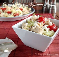 Greek Chicken-Quinoa Salad | Taking On Magazines | www.takingonmagazines.com
