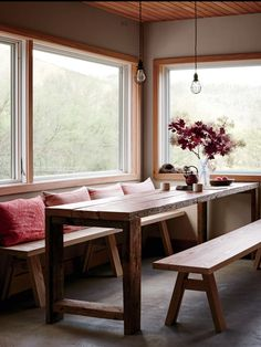 Austere Beauty  Dining Area Of 100 Year Old Farmhouse In Upstate New