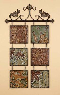 Tuscan Fleur De Lis Hanging Metal Wall Art Wall Decor | eBay
