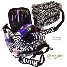 Large Zebra Hairdressing Beauty Tool Case, College Or Salon, Haito Hair Tools #HairToolsHaito