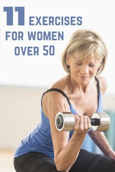 Exercise not only keeps you feeling and looking younger, but actually physically slows down the aging process. Here are 11 low-impact exercises that will work every muscle group and give you a good total body workout. Fitness Workout For Women, Fitness Tips, Strength Workout, Strength Training, Pilates, Low Impact Workout, Senior Fitness, Easy Workouts, Workout Exercises