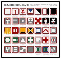 Alien: Semiotic Standard icon set  by Ron Cobb