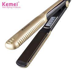 Kemei KM-327 Professional Hair Straightener Iron Hairstyling Portable Ceramic Hair Straightener Iron Styling Tools Free Shipping