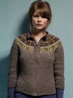 Rib And Fairisle Cardigan have to join the site but it's free
