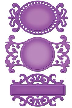 Spellbinders - Shapeabilities Collection - Die Cutting and Embossing Templates - Fancy Tags Three