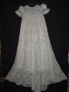 Christening gown made from daughter's wedding dress