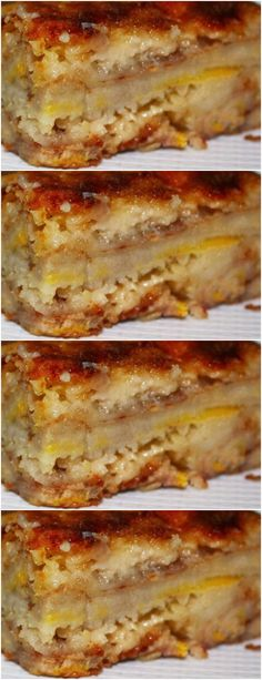 Slice bananas horizontally (total 3 slices for each banana) cake # pie # sweet # dessert # Churros, Fitness Nutrition, Health And Nutrition, Light Diet, Tasty, Yummy Food, Sweet Pie, Cupcakes, Sweet Desserts