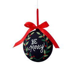 Pizarra 'Be Merry' de 5,5 pulgadas de ornamento