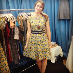 Mata Traders very own Katie wearing the First Dance dress in floral