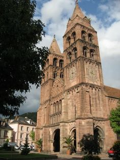 France.Alsace.\\ Guebwiller.Eglise Saint Leger