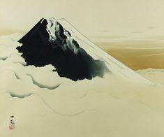 'Sacred Mount Fuji' woodcut by Taikan YOKOYAMA ・ Category■woodcut ・ Theme■Fuji, sky, cloud