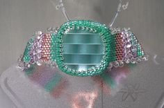Shimmers of Green and Copper and Fringe Bracelet by gartenglitz, $12.50