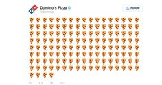 Now you can order Domino's just by tweeting the pizza slice emoji.