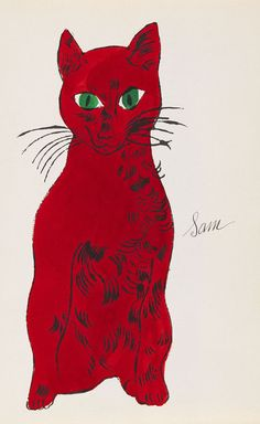 Sam. Andy Warhol Cat