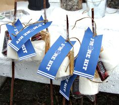 Free s'mores kit downloadable tags for camping/geocaching party