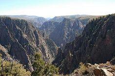 Black canyon gunnison Colorado.The park protects a quarter of the Gunnison River, which slices sheer canyon walls from dark Precambrian-era rock.