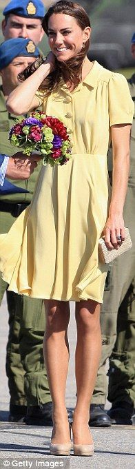 Favourite shoes: She's also worn her £185 LK Bennett heels on numerous occasions