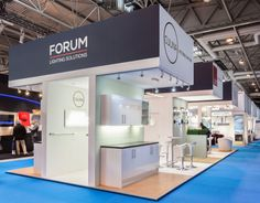 Exhibition Stand: Stand designed, built and installed for Forum Lighting at the 2014 KBB Live show, at NEC, Birmingham www.ddex.co.uk