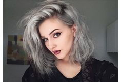 gray lavender hair young - Google Search