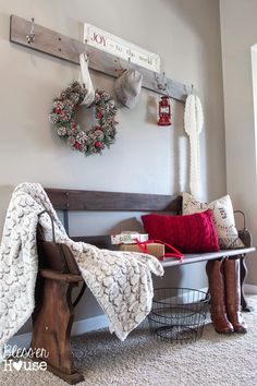 Bless'er House | Holiday Home Tour Sneak Peek: Rustic Christmas Entryway