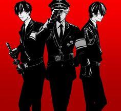 Hijikata Toushirou.Sakata Gintoki.Takasugi Shinsuke (Gintama) Anime Boys, Manga Anime, Cute Anime Boy, Manga Boy, Anime Art, Anime Military, Fiction Movies, Cool Poses, Okikagu