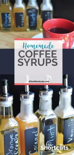 Have cafe style coffee at home with these SIMPLE Homemade Coffee Syrups Don't spend a fortune on store-bought syrups! Have cafe style coffee at home with these SIMPLE Homemade Coffee Syrups! So many flavor choices! Ninja Coffee Bar Recipes, Coffee Drink Recipes, Coffee Drinks, Coffee Syrups, Keurig Recipes, Nespresso Recipes, Tea Drinks, Cold Drinks, Iced Coffee
