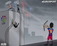 Barcelona crowned La Liga champions Credits : ZEZO CARTOONS Football Highlight, English Premier League, World Cup 2018, Champions League, Highlights, Barcelona, Cartoons, Memes, The League