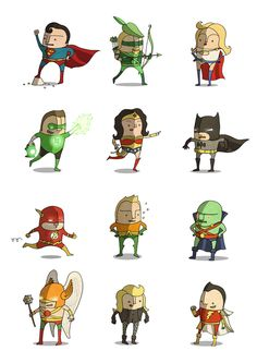 Superheroes by Ben Scruton, via Behance