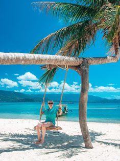 Bootstour von Koh Samui nach Koh Tan & Koh Madsum | Sonnig Unterwegs Reiseblog Lamai Beach, Outdoor Furniture, Outdoor Decor, Hammock, Palm Trees Beach, Small Restaurants, Thailand Travel, Refreshing Drinks, Small Island